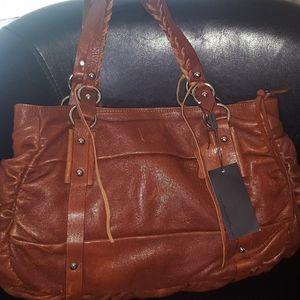 ❤RARE❤ NWT Chocolat Blu Large Leather Handbag